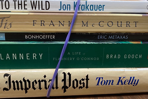Autobiographies Jon Krakauer, Frank McCourt, Eric Metaxas, Brad Gooch, Tom Kelly