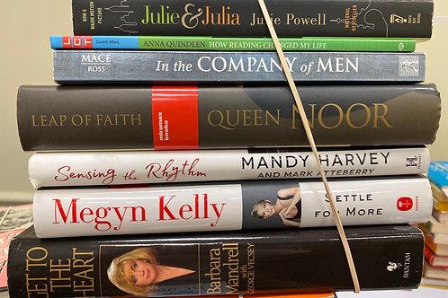 Autobiographies Julie and Julia, queen Noor, Megyn Kelly, Barbara Mandrell, Mand