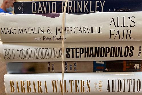 Autobiographies Barbara Walters, George Stephanopoulos, Anderson Cooper, David B