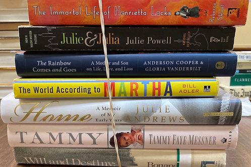 Autobiographies Tammy Faye Messner, Julie Andrews, Bill Adler, Julie Powell, Reb