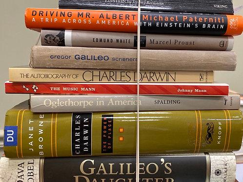 Autobiographies Albert Einstein, Marcel Proust, Galileo, Charles Darwin, Johnny