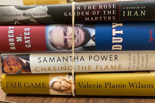 Autobiographies Valerie Plane Wilson, Samantha Power, Robert Gates, A memoir of