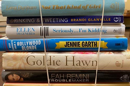 Autobiographies Lucille Ball,Leah Remini Goldie Hawn , Jenny Garth, Ellen DeGene