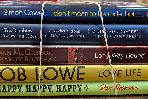 Autobiographies Phil Robertson, Rob Lowe, Ewan McGregor, Anderson Cooper, Gloria