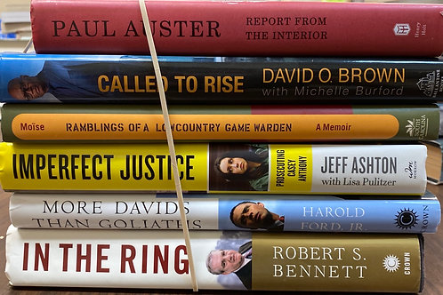 Autobiographies In the room, more David than Goliaths, Imperfect Justice, called