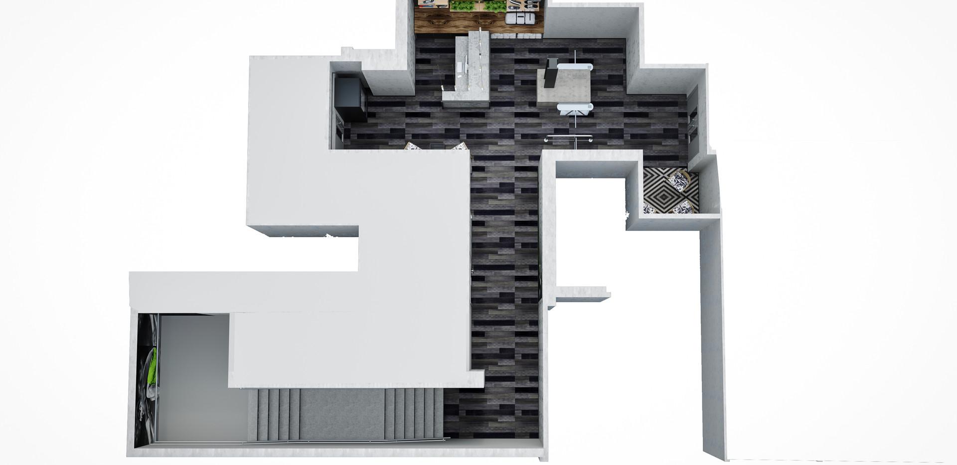 Space plan Ground floor