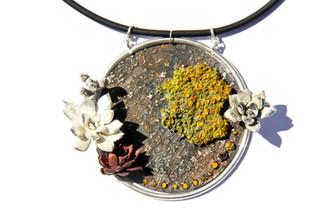Worldly Lichen Pendant