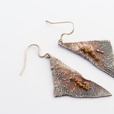 Textured Lichen Earrings