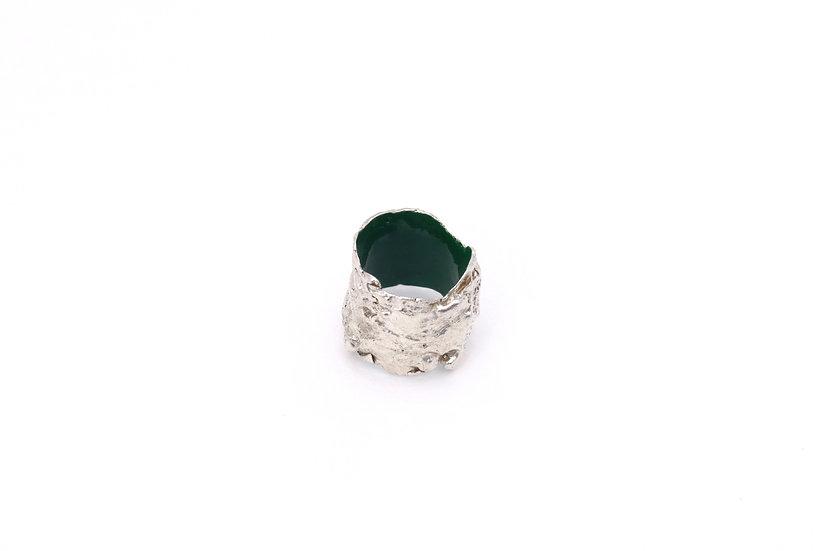 Lichen Textured Forest Ring