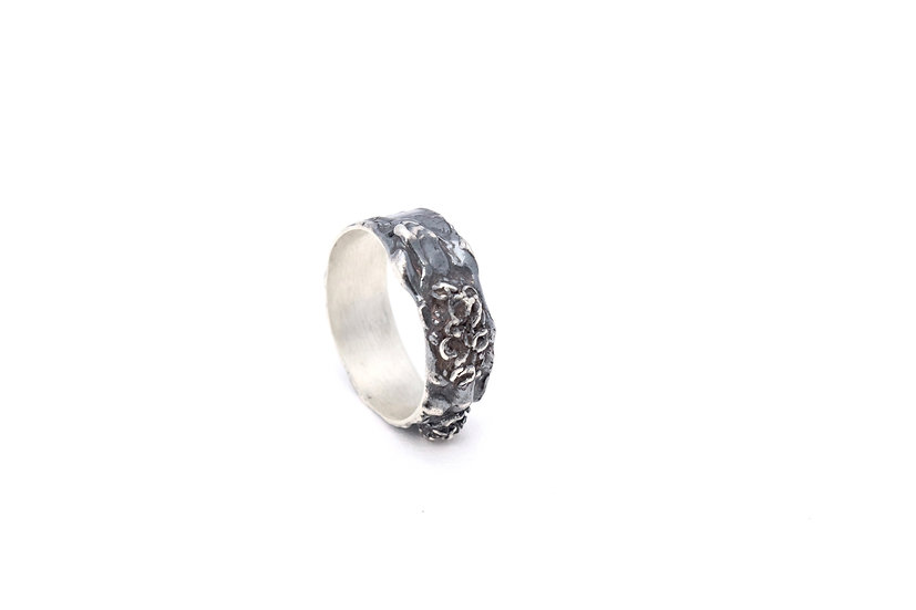 Lichen Moon Ring