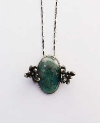 Moss Agate Sedum Necklace
