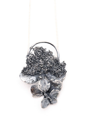 Half Moon Kalanchoe Lichen Necklace