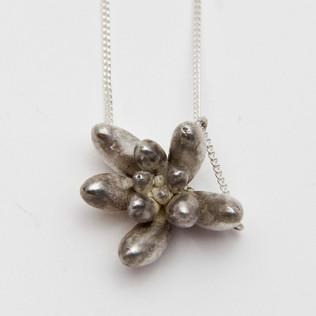 Silver Blob Necklace