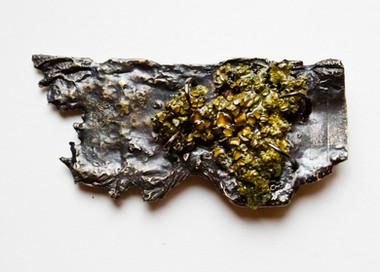 Organic Lichen Brooch