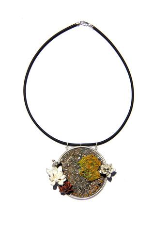 Worldly Lichen Necklace