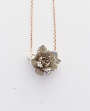 Rose Echeveria Necklace