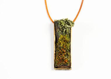 Orange Lichen Necklace