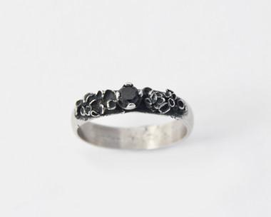 Black Diamond Lichen Ring