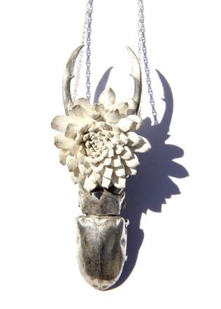 Echeveria Beetle Necklace