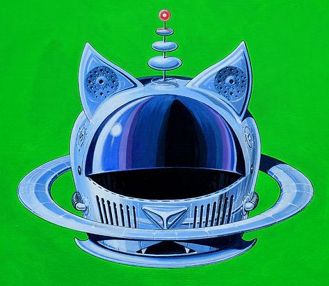 cats in space helmet