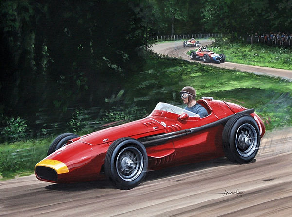 Print Fangio Maserati 250F