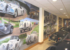 Wall mural for JD Classics in Maldon, painted in 2006.