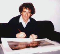 Alain Prost signing the print edition 'Mexican 1-2', Paris 1990.