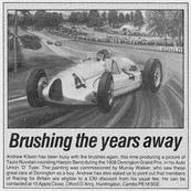 Press in Autosport magazine 1987