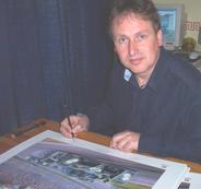 Signing prints 'British Pride' 2003.