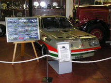 'Marshall Art' on display with Gerry Marshall's Vauxhall Firenza in the Donington Collection.