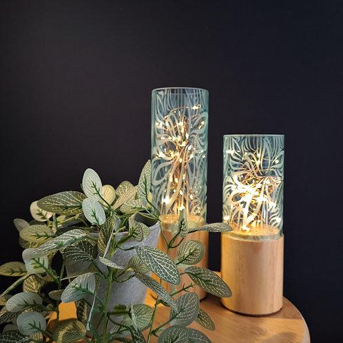Cylinder Twinkle Lights | Floral