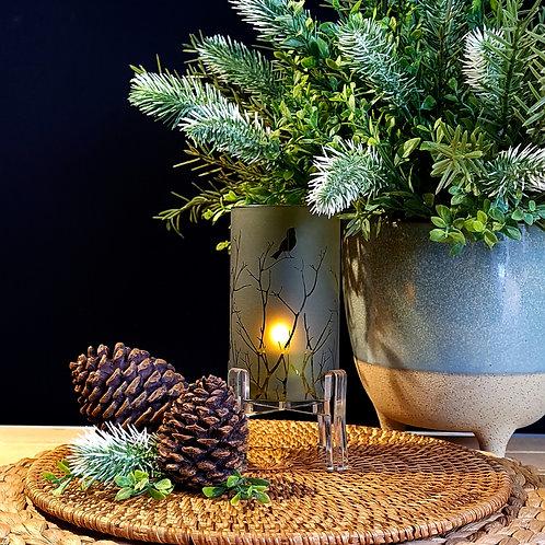 Cylinder Candleholder   Bird + Twig