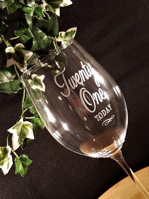 21 Red Wine Glass