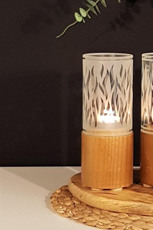 Cylinder Candle Holder | Flames
