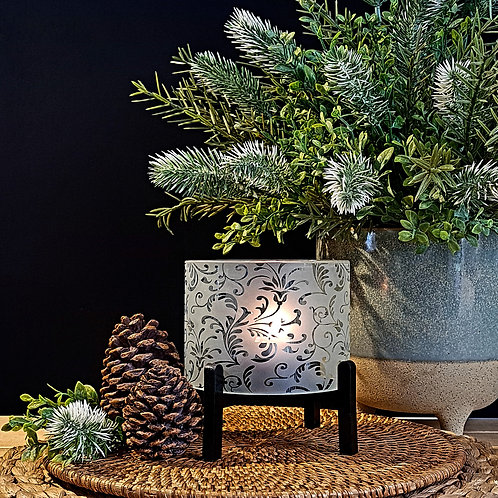 Cylinder Candleholders | Floral Plume