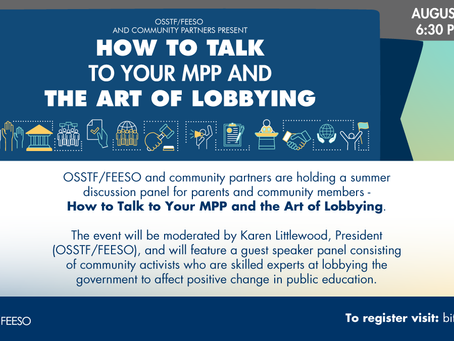 How to talk to your MPP and the art of lobbying