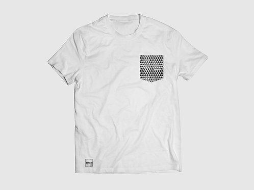 T-Shirt à poche Benzin - Blanc