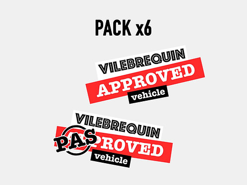 Sticker Vilebrequin Approved pack (x6)
