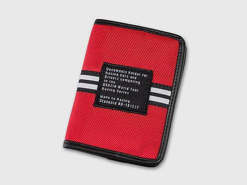 Porte-document cuir Benzin Racing - Rouge
