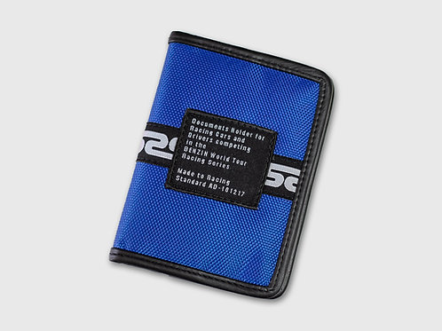 Porte-document cuir Benzin Racing - Bleu