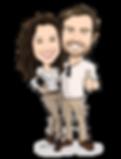 Max e Amanda Caricatura