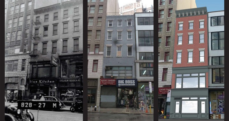 NEW YORK DESIGN ARCHITECTS LLP, GIVES RESTORATION TO 1145 BROADWAY