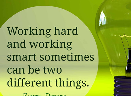 KNOWING HOW HARD TO WORK