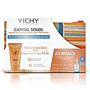 Capital Soleil Toque Seco FPS-50 50ml + Cosmetiquera