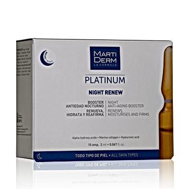 MartiDerm Night Renew Caja con 10 ampolletas