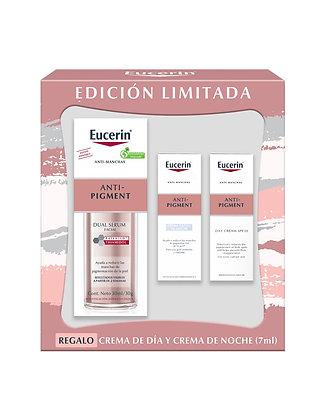 Kit Eucerin Anti-Pigment Dual Serum 30ml + Mini Noche 7ml + Mini Día 7ml
