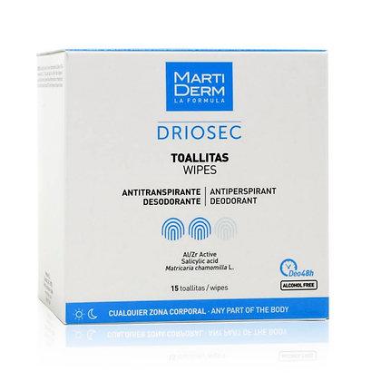 MartiDerm Driosec Toallitas 15 unidades de 4 ml
