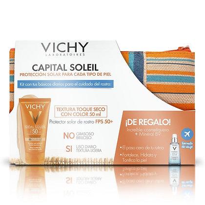Capital Soleil Toque Seco con Color FPS-50 50ml + Cosmetiquera