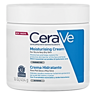 Cerave Crema Hidratante para Piel Seca 454g