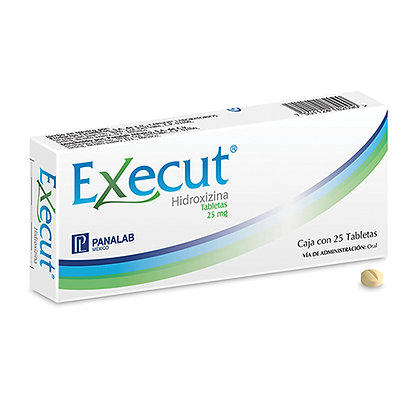 Execut Tabletas 25mg C/30 Cápsulas